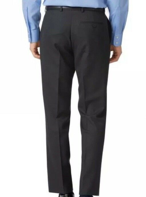 Charles Charles Charles Tyrwhitt Charcoal classic fit birdseye travel suit trouser W40 38U E120 383151