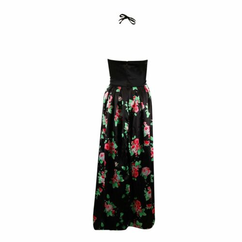 Women Long Ball Gown Formal Party Floral Halter Evening Cocktail Prom Maxi Dress
