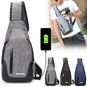 Men-Chest-Pack-Messenger-Sling-Sport-Travel-Crossbody-Shoulder-Bag-USB-Charging