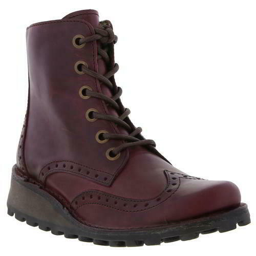 Fly Fly Fly London Marl Womens Ladies Brogue Wedge Chukka Ankle Boots Size UK 4-8 46788d