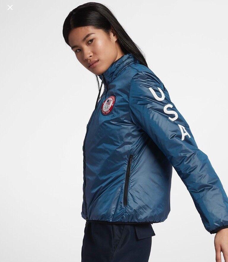 NIKE NIKELAB  Team USA cumbre Chaqueta para mujer. Talla. Juegos Olímpicos 2018 M (916683-474)  garantía de crédito