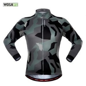 Mens-Cycling-Jersey-Long-Sleeve-MTB-Road-Bike-Shirts-Quick-Drying-Elastic-Tops
