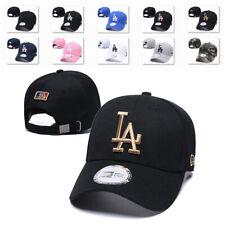 Wesport Xiaoha Store LA Emblem Baseball Hat Embroidery Adult Men Women Universal Fit Los Angeles Dodgers Cap (White-Black Logo)