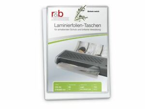 Laminierfolien A4 (216 x 303 mm), 2 x 80 mic, matt, polypropylen