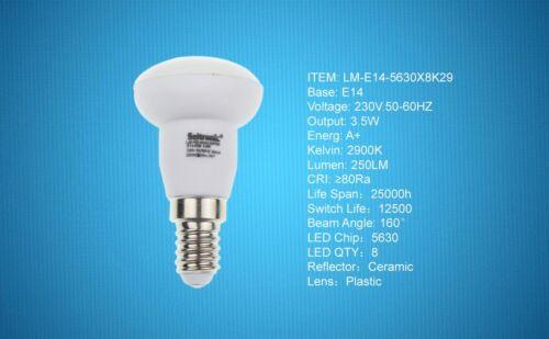 400LM und 10LEDs Warm weiß 2900K 5X E14 LED Lampen von Seitronic 5,5 Watt