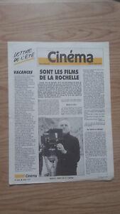 Revista Semanal Cinema Semana 22 Julio 1987 N º 406 Buen Estado