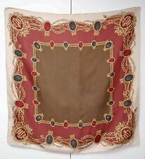Christian Dior Scarf 100% Silk Designer Vintage Foulard Sciarpa Gems Jewellery
