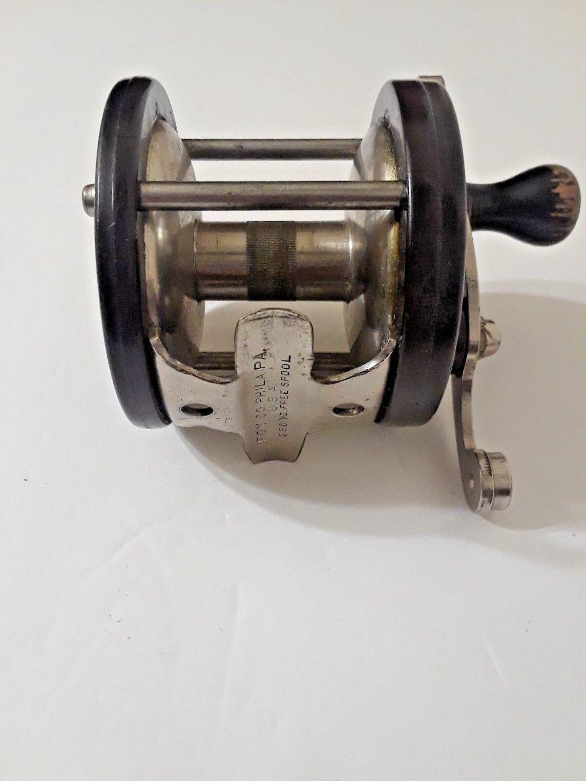Vintage A H Fox  Co Phila. PA 1930s Fishing Casting Reel 250 Yard Spool  creative products
