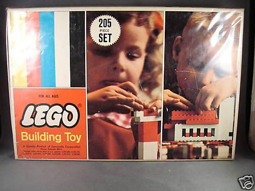 1966 Lego set 205 Building Toy Real Rare Samsonite
