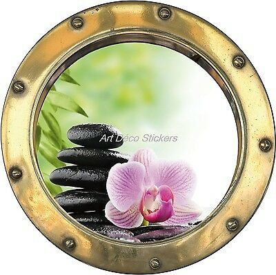 hublot Sticker trompe l/'oeil deco roller flower ref h353 ref