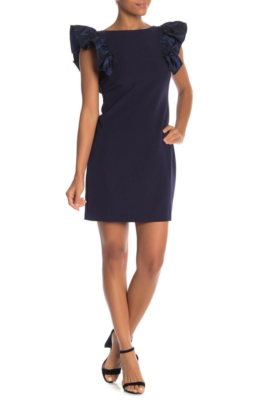 Eliza J Ruffle Sleeve Sheath Dress (size 8)