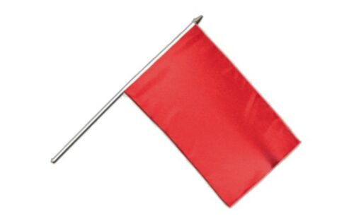 Einfarbig Rot Stockflagge Flaggen Fahnen Stockfahne 30x45cm