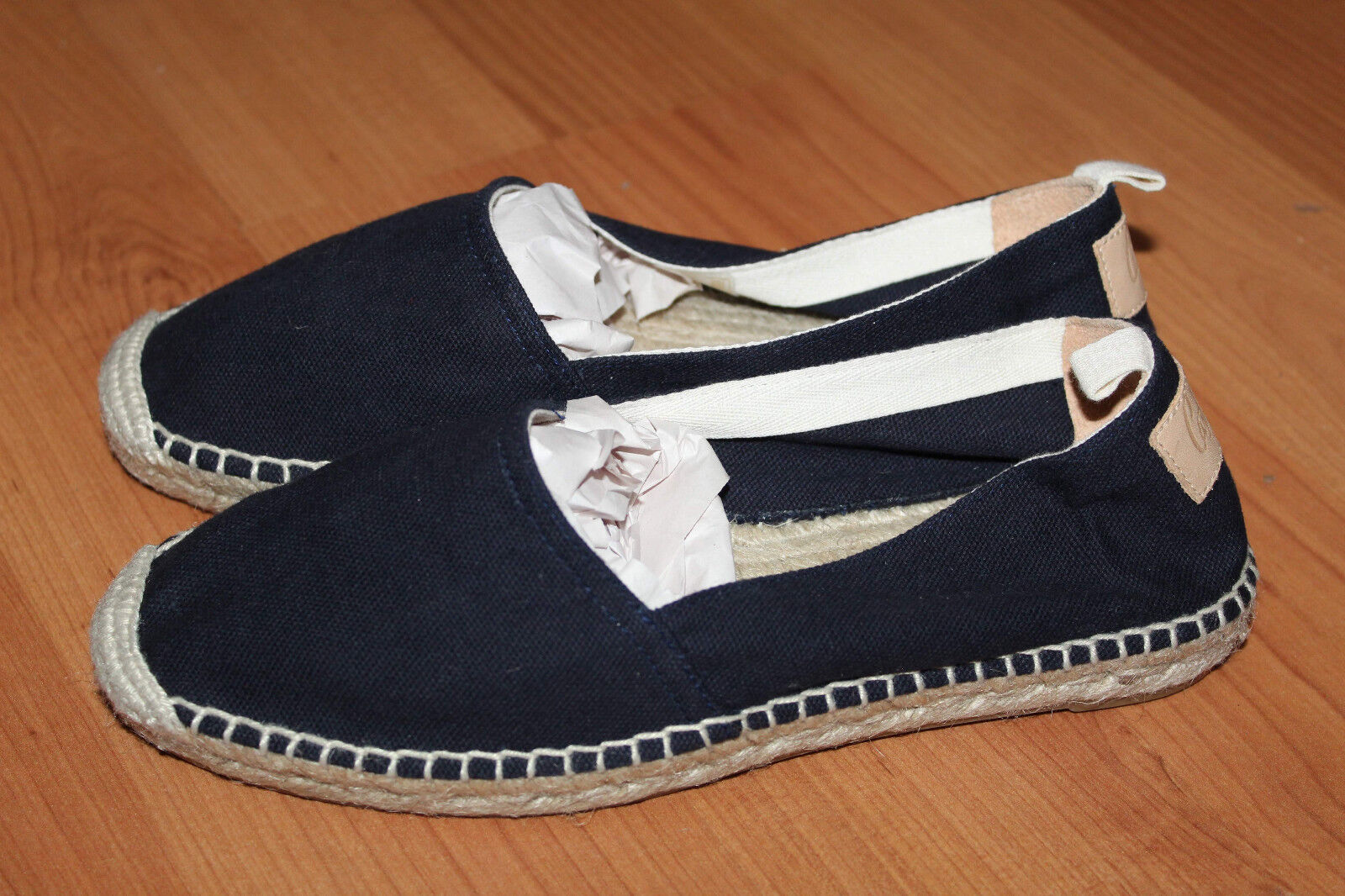 Castaner Kent Summer Canvas blue Marin Flat Espadrilles Size EUR 35
