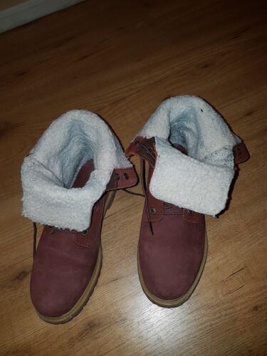 Boots Très bon 5 Burgundy état Timberland Uk BwZdBn