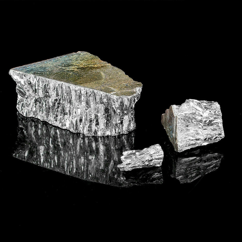 Bismuth Metal Ingot Chunks for making crystals or general use. 1kg