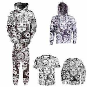 Otaku-Japanese-Anime-Ahegao-Manga-Zipper-Hoodie-Hooded-Sweatshirt-Costume-Coat