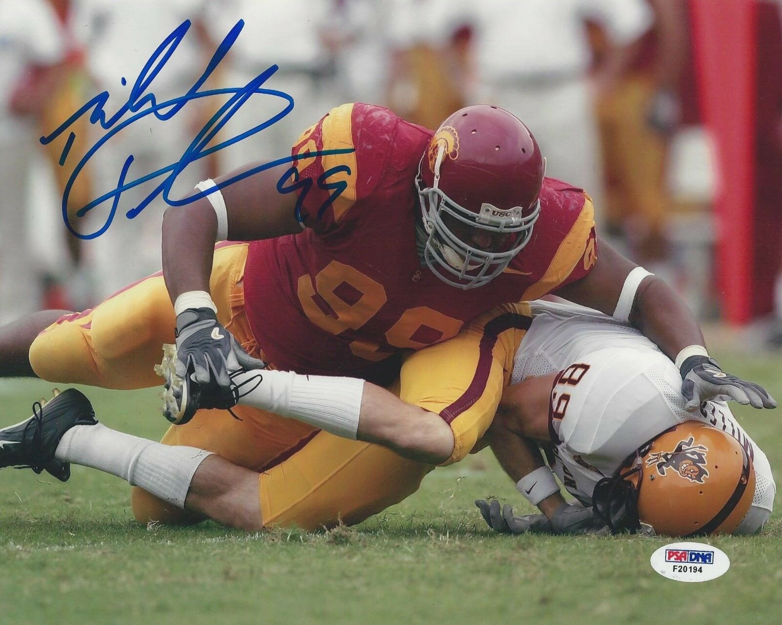 Mike Patterson USC Trojans signed 8x10 photo PSA/DNA # F20194
