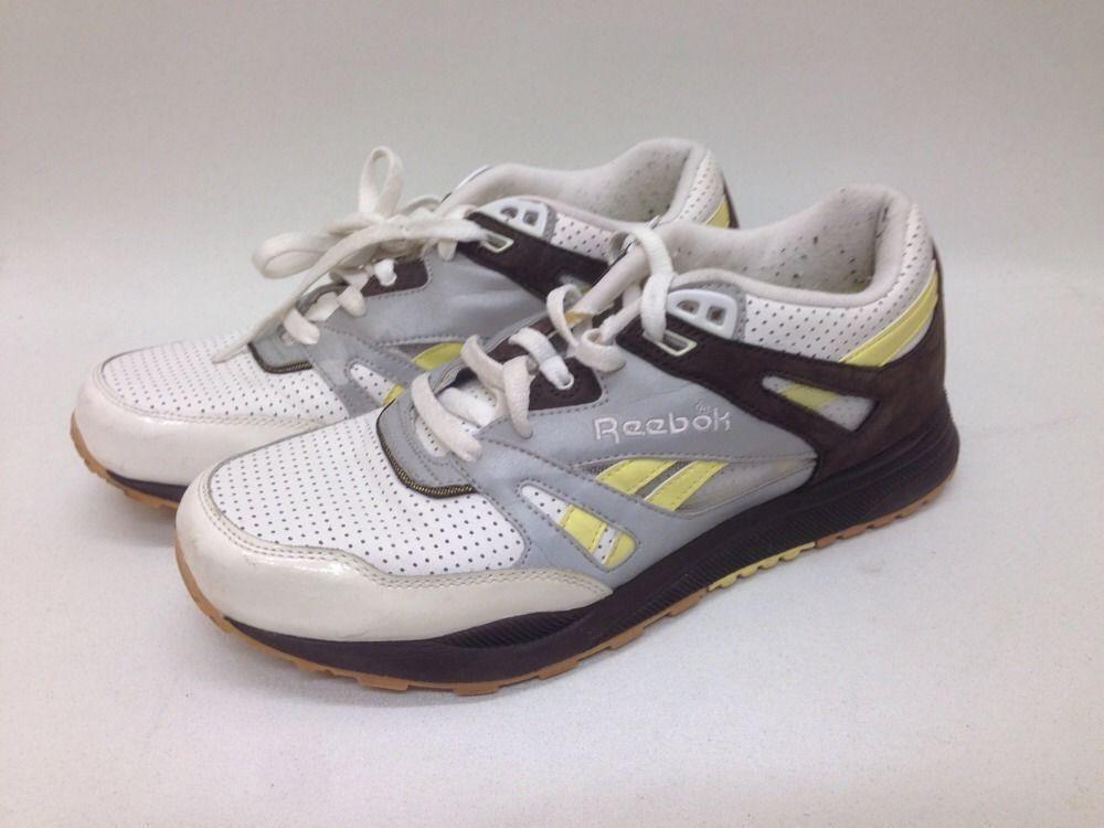 Usado Para Hombre Zapato de correr Reebok Ventilador Amarillo Talla 9.5