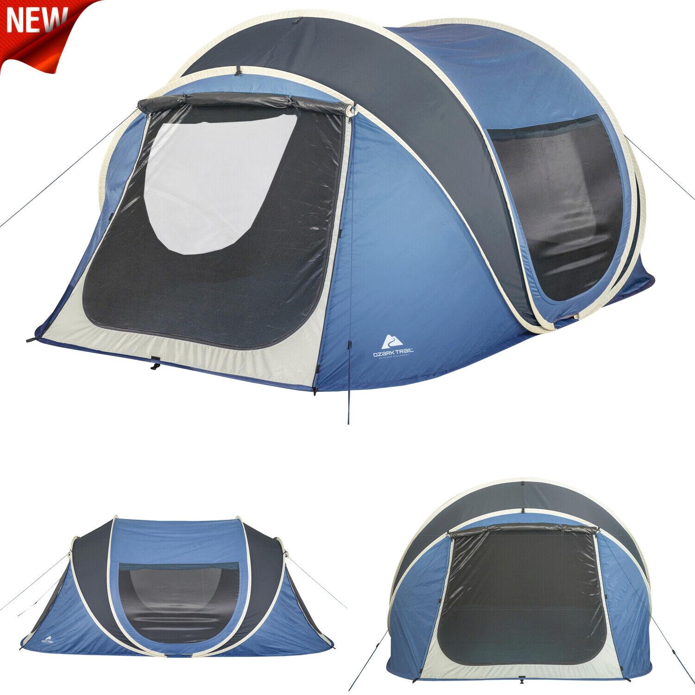 Ozark Trail 6  Personas Pop Up Cochepa domo para campamento Familiar al aire libre instantáneo Refugio Nuevo  nuevo listado