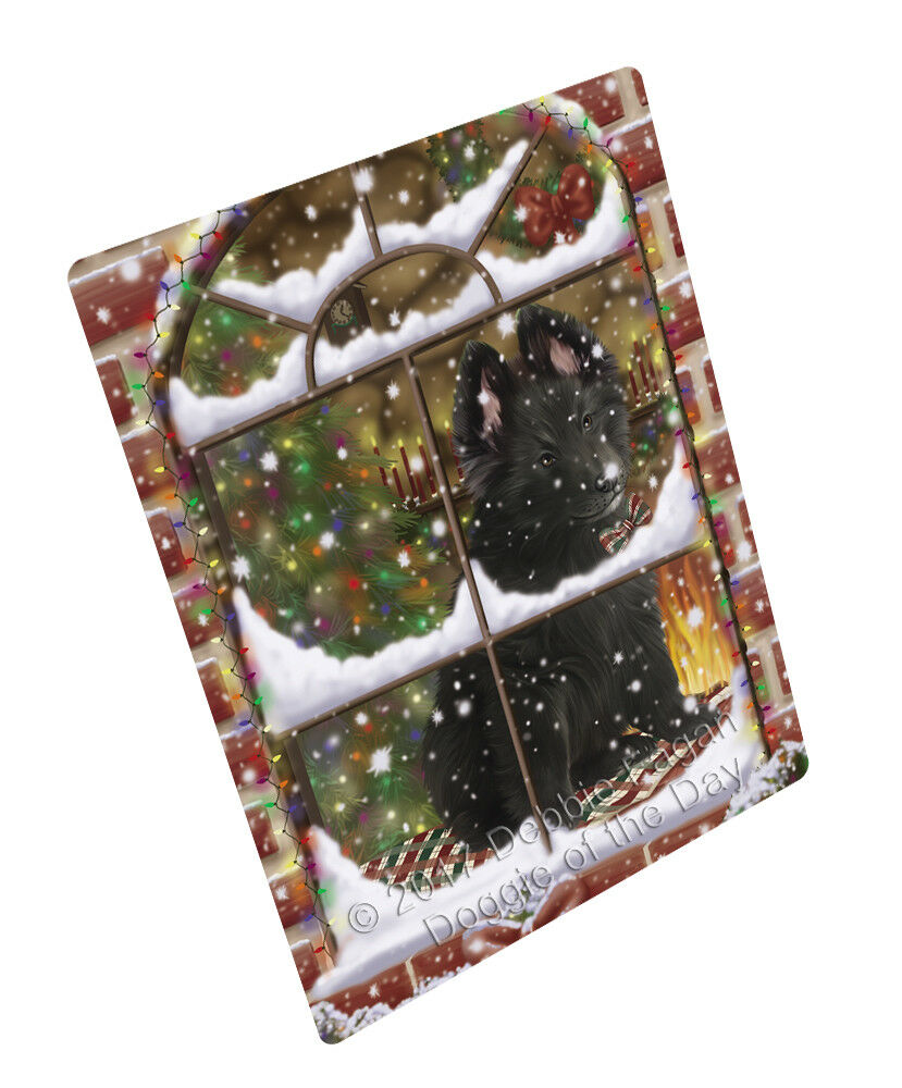 Come Home For Christmas Belgian Shepherds Dog Woven Throw Sherpa Blanket T245