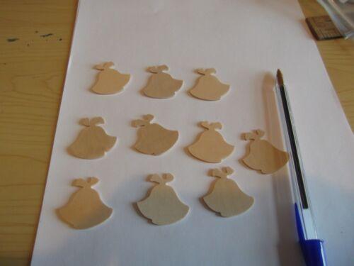 10 objets par Lot Bouleau Contreplaqué Bois Formes//Blanks-Cloches