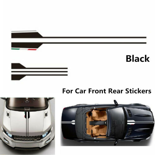 High Quality Vinyl Decal Car Body Hood Cover Sticker Trim Racing Stripe Graphics