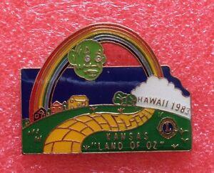 Pins-LIONS-CLUB-Lioness-HAWAI-1983-KANSAS-Land-Of-OZ-International