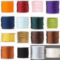 100 Feet 1mm Imitation Silk Macrame Cord For Beads Beading Jewelry Crafting