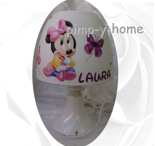 mit//ohne  Wunschname Stehlampe Tischlampe Minnie Maus Schmetterlinge  auch LED