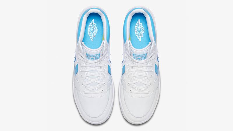 Converse Fastbreak x Jordan UNC size 8. North Carolina. White Blue. 917931-900.