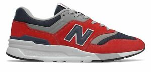 New Balance Men's 997H Shoes Red with Navy
