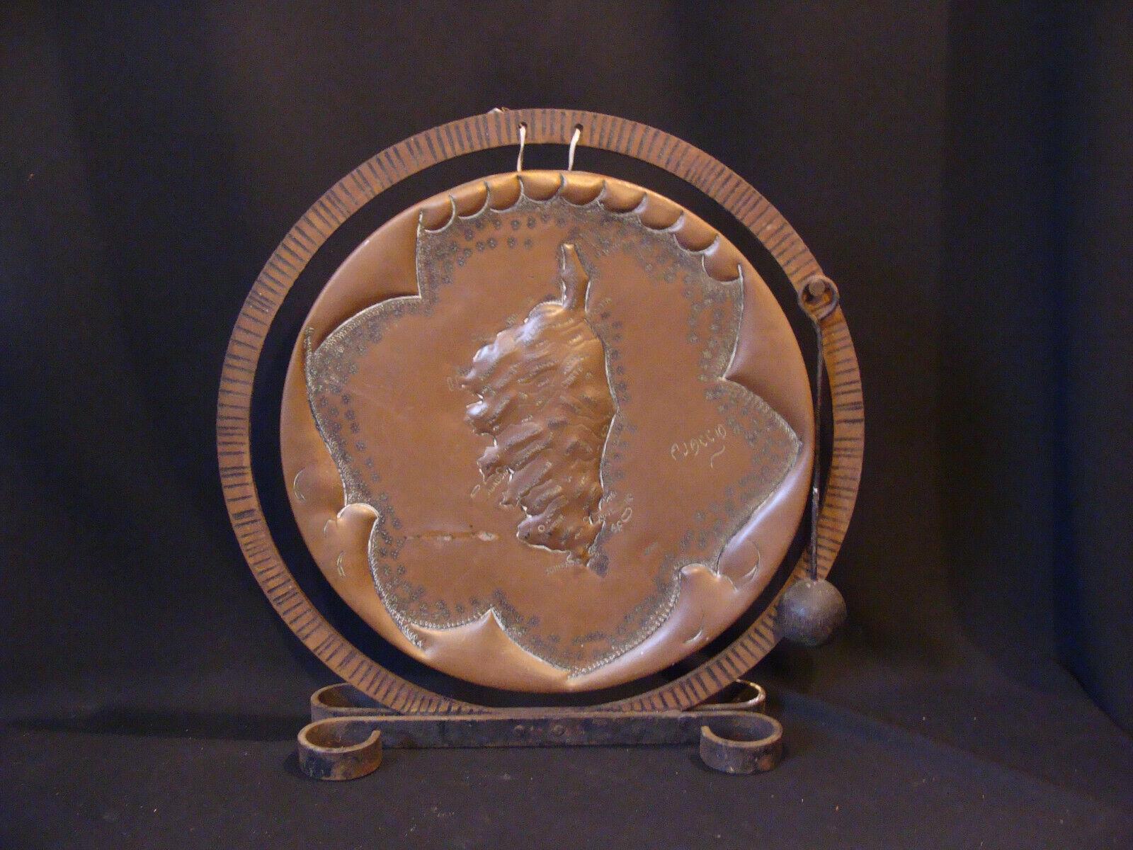Corse carte gong sur cuivre années 20-30