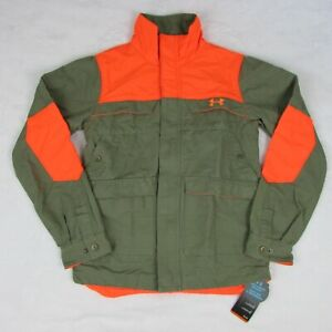 UA-Under-Armour-Prey-Hunting-Shooting-Jacket-1231191-Olive-green-Orange-Small