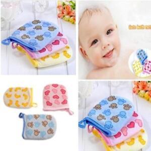 Infant-Cartoon-Bath-Shower-Exfoliating-Body-Scrub-Cotton-Towel-Glove-shan