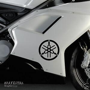 2x Yamaha Diapason Icône Logo Autocollant Decal-moto Moto Vélo Vinyle-afficher Le Titre D'origine Prix Raisonnable