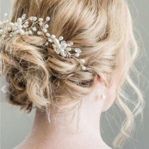 pince cheveux pingle cristal perles fleur f te mariage coiffure accessoire nf ebay. Black Bedroom Furniture Sets. Home Design Ideas