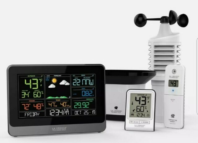 WI-FI PROFESSIONAL WEATHER STATION LA CROSSE C83100 ACCUWEATHER FORECAST MOBILE