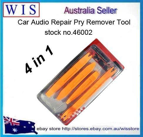 4PCS CAR AUDIO DOOR CLIP PANEL TRIM DASH AUTO RADIO REMOVAL PRY TOOL SET-46002