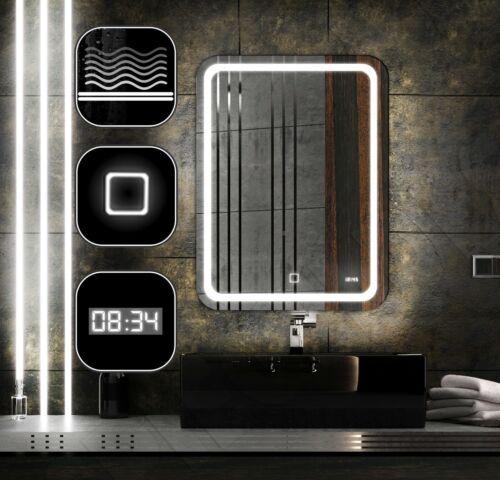 NEU LEDTWIX LED SPIEGEL MODERN 50x60 cm THS UHR HEIZMATTE