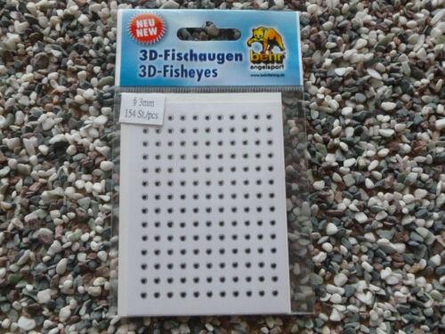 rot // weiss Neu 3 D Fischaugen Freie Auswahl 3 // 5 // 6 // 8 mm von Behr