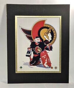 Ottawa Senators NHL Hockey 1995 Goalie MATTED 11X14 Lithograph by Kelly Russell