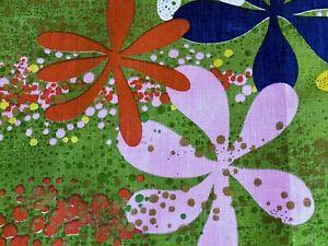 SALE-Brady-Bunch-Hawaii-Trip-Barkcloth-Era-Vintage-Fabric-Yardage-Mid-Century