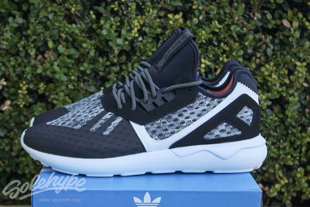 Adidas Originals Corredor de Tubular Core Negro Atletismo Blanco
