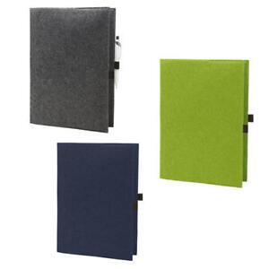 HALFAR Eco Filz Hülle A4 oder  A5 für Kalender, Notizbücher Büro Dokumentmappe