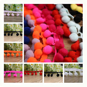 Pom-Pom-mini-Bobble-Ball-Fringe-Braid-lace-trimming-for-crafting-sewing-hats