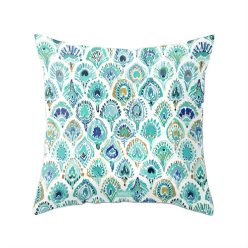 Nordic Cushion Covers Peacock Feather Sofa Decorative Cushions Pillow Cover Case