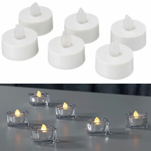 Ikea Led Flamless Battery Operated Tealights And Candles Ebay