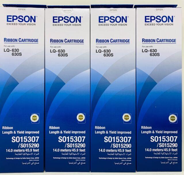 Epson S015307 Band Original Schwarz Für Epson LQ-630/ LQ-630S (X 4 Stücke)