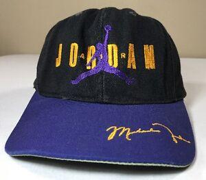 93c857d549c VTG Nike Air Jordan Hat Snapback 90s Cap OG Flight Agassi Bulls | eBay