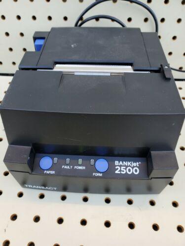 TransACT BANKJet 2500 Black Printer BJ2500 Tested and working!